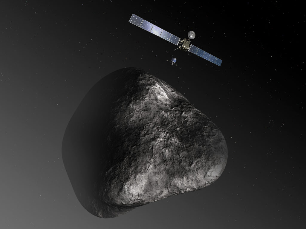 Though it was a project that took more than a decade to realize, the core idea of the Rosetta mission was simple: let's go land on a comet. Image from European Space Agency.